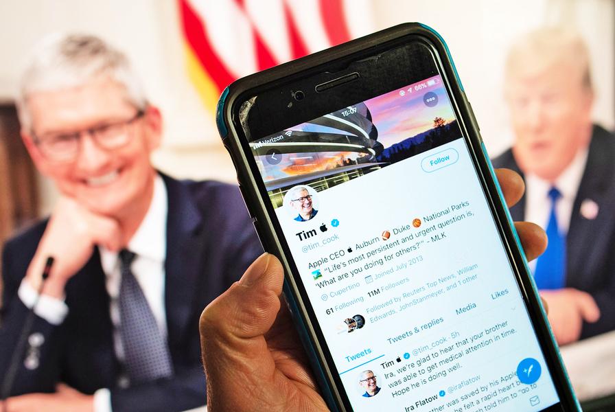 特朗普神來之「語」CEO立馬改推特帳號