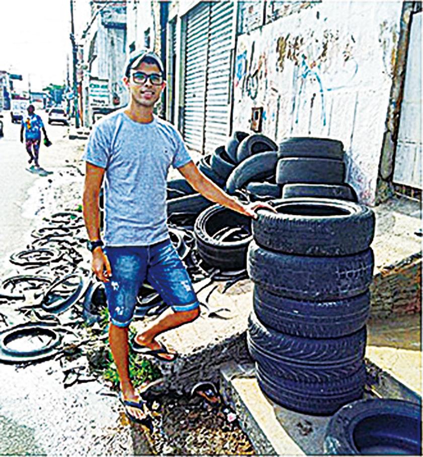 將舊輪胎變成寵物床  巴西青年創意又環保