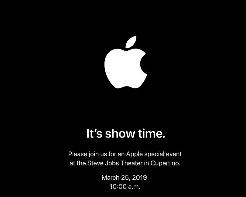 蘋果25日媒體發表會的邀請函。(推特截圖)
