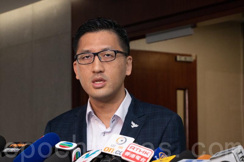 林卓廷表示將會去信立法會交通事務委員會,要求舉行緊急會議。(蔡雯文/大紀元)