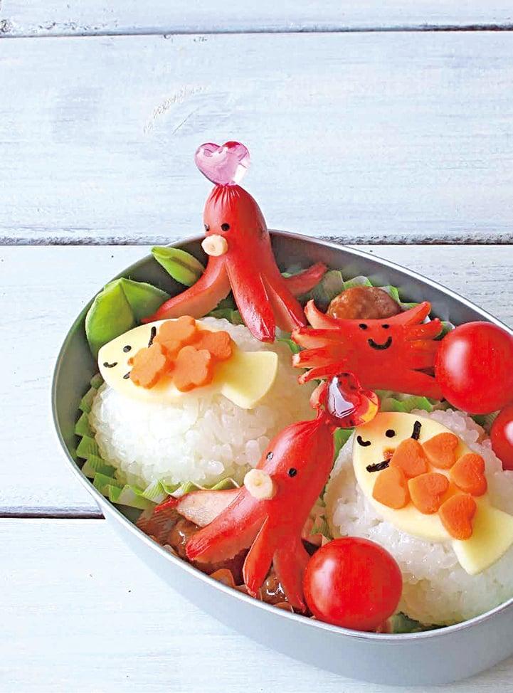日本的卡通飯盒外表可愛,只要稍用巧思就可以讓孩子非常喜歡。