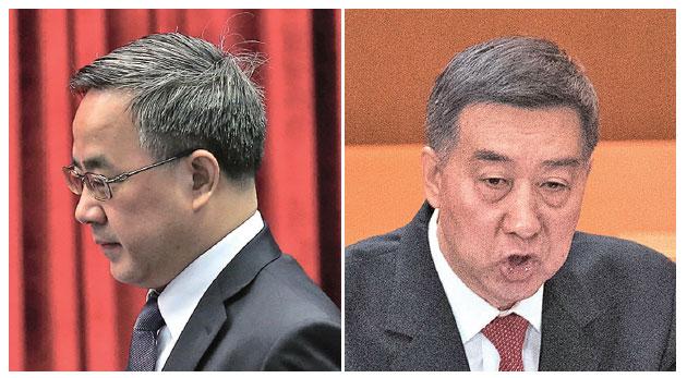 中共副總理胡春華(左)的防汛抗旱總指揮職位被國務委員王勇(右)取代。(Getty Images)