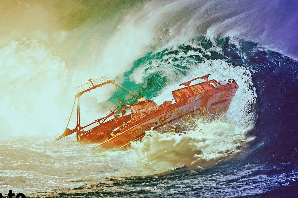 在中國江西省,也有個被列為「中國十大旅遊禁區」的「百慕達」──老爺廟水域。僅從1960年代初到1980年代末的近30年間,就有200多艘船隻沉沒、1600多人失蹤,成功生還卻被嚇瘋的不下30人。示意圖。(公有領域)