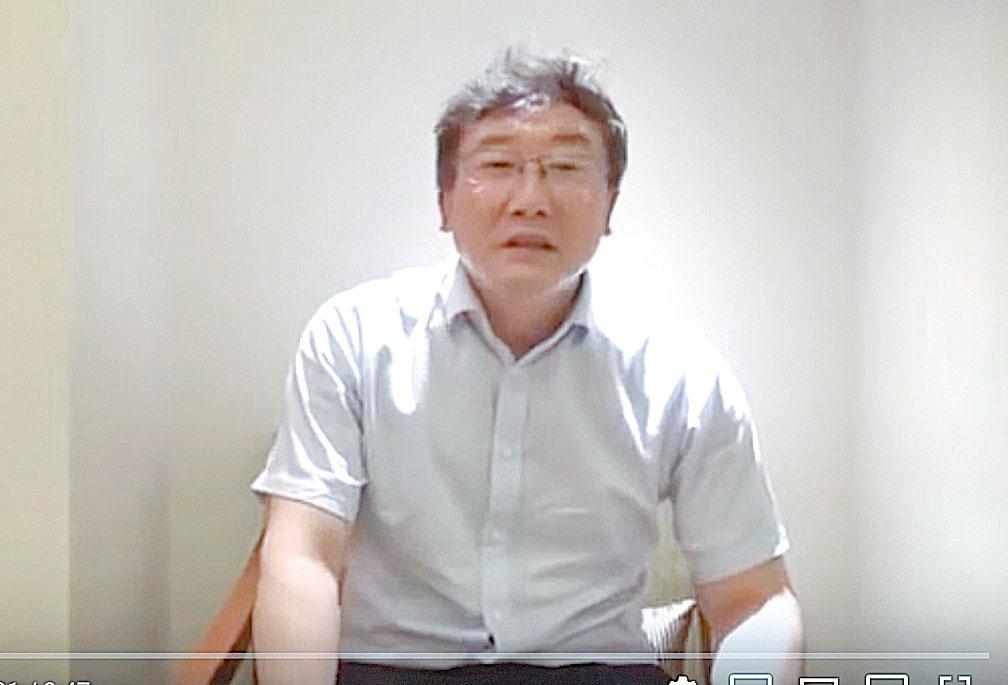 中共最高法院法官王林清為自保,錄製影片講述事情。(影片截圖)