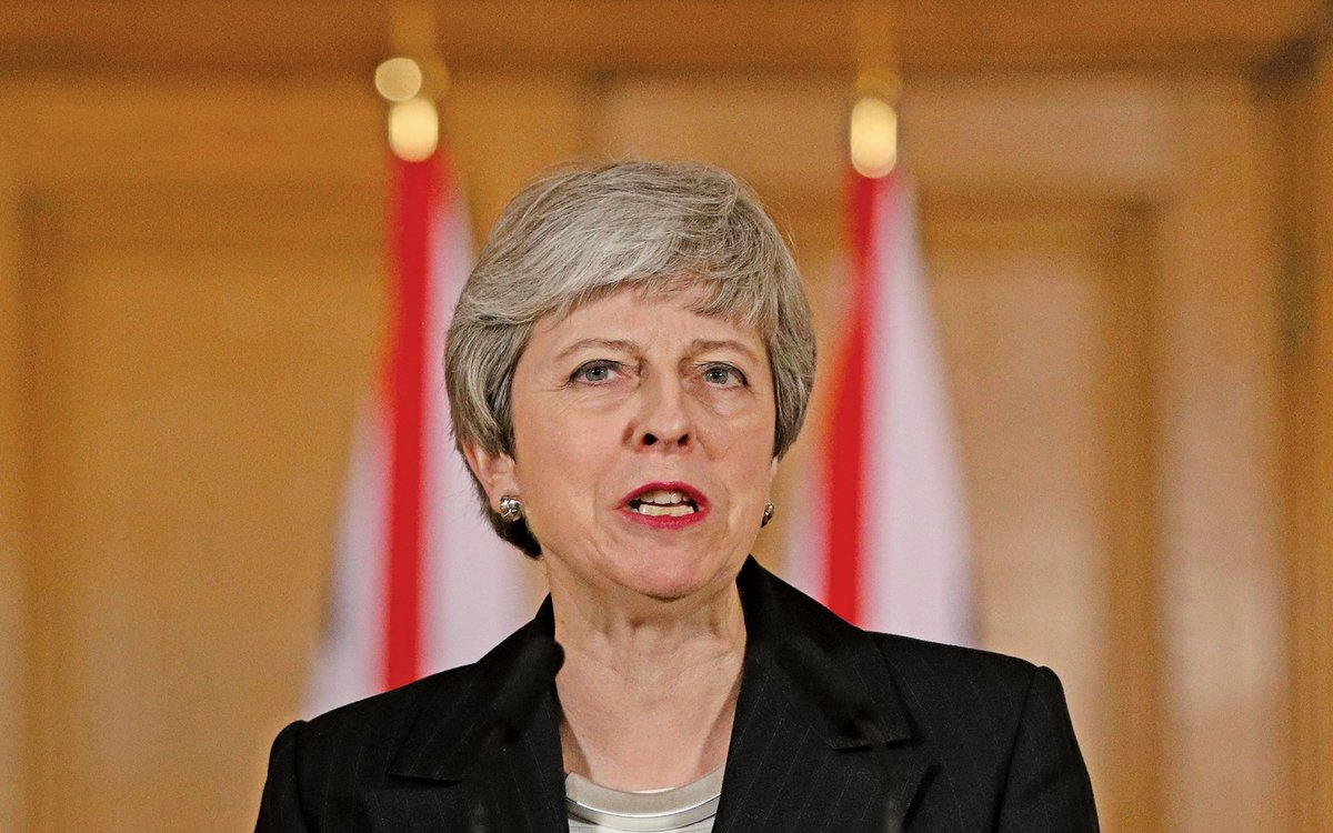 英國首相文翠珊發表講話,敦促議員在下周的第三次脫歐投票中對脫歐草案投贊成票。(Getty Images)