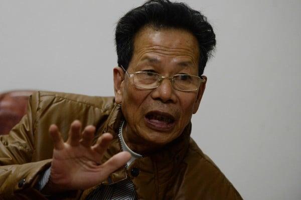 林祖戀是烏坎村民主選舉出來的支書。在他公開呼籲舉行遊行反對非法徵地之後,他於周六凌晨被逮捕。(MARK RALSTON/AFP/Getty Images)