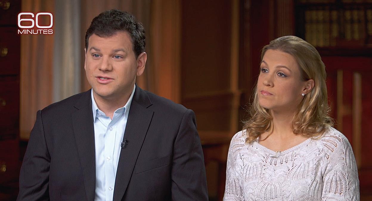 羅賓加菲爾德(Robyn Garfield)(左)是美國商務部的貿易官員,他和妻子(右)在上海期間也受到了神秘聲波的攻擊。(影片截圖)
