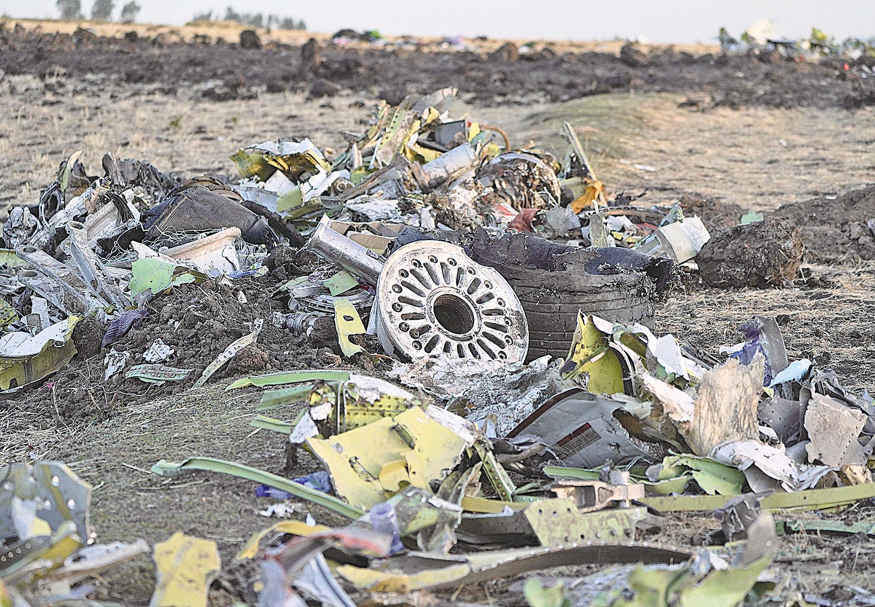 2019年3月10日,埃塞俄比亞航空公司一架波音737 max-8飛機從亞的斯亞貝巴起飛6分鐘後墜毀,機上157人全部遇難。(Getty Images)