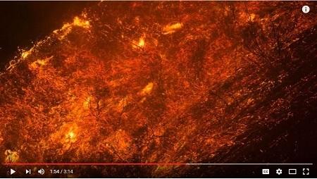 創紀錄的致命熱浪繼續侵襲美國西南部,截至周一(6月20日)晚間,熱浪已在該地區引發10餘宗山火。(YouTube視頻截圖)