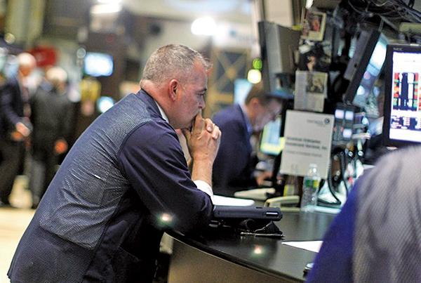 憂經濟衰退 道指重挫460點