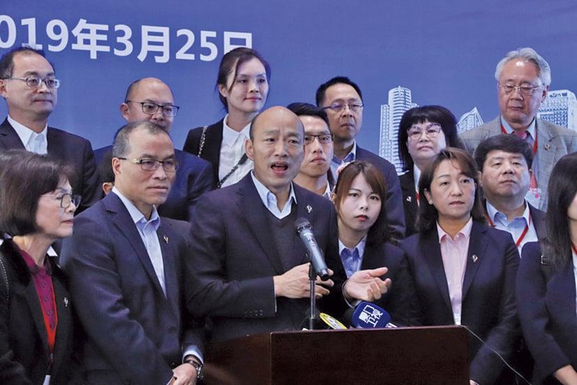 韓國瑜進港澳中聯辦  在台引爭議