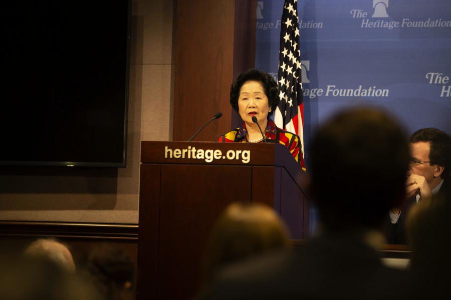 陳方安生於傳統基金會研討會上演說
