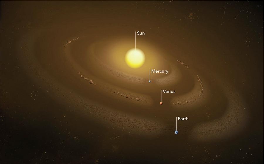 緊鄰太陽的水星軌道驚現塵埃環