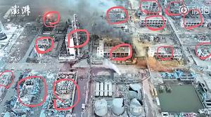 逾二十棟大樓被炸毀 鹽城爆炸死傷驚人