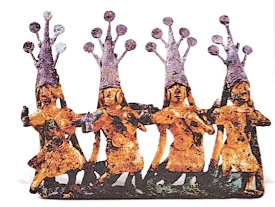 西漢‧四人舞蹈扣飾(公有領域)