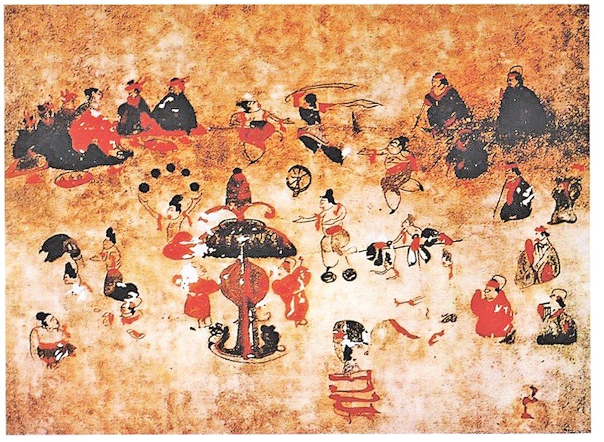 漢‧百戲壁畫(公有領域)