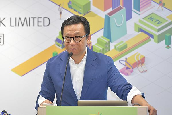 香港電視主席王維基昨日在業績會上稱,香港電視仍在投資期,對業務充滿信心。(郭威利/大紀元)