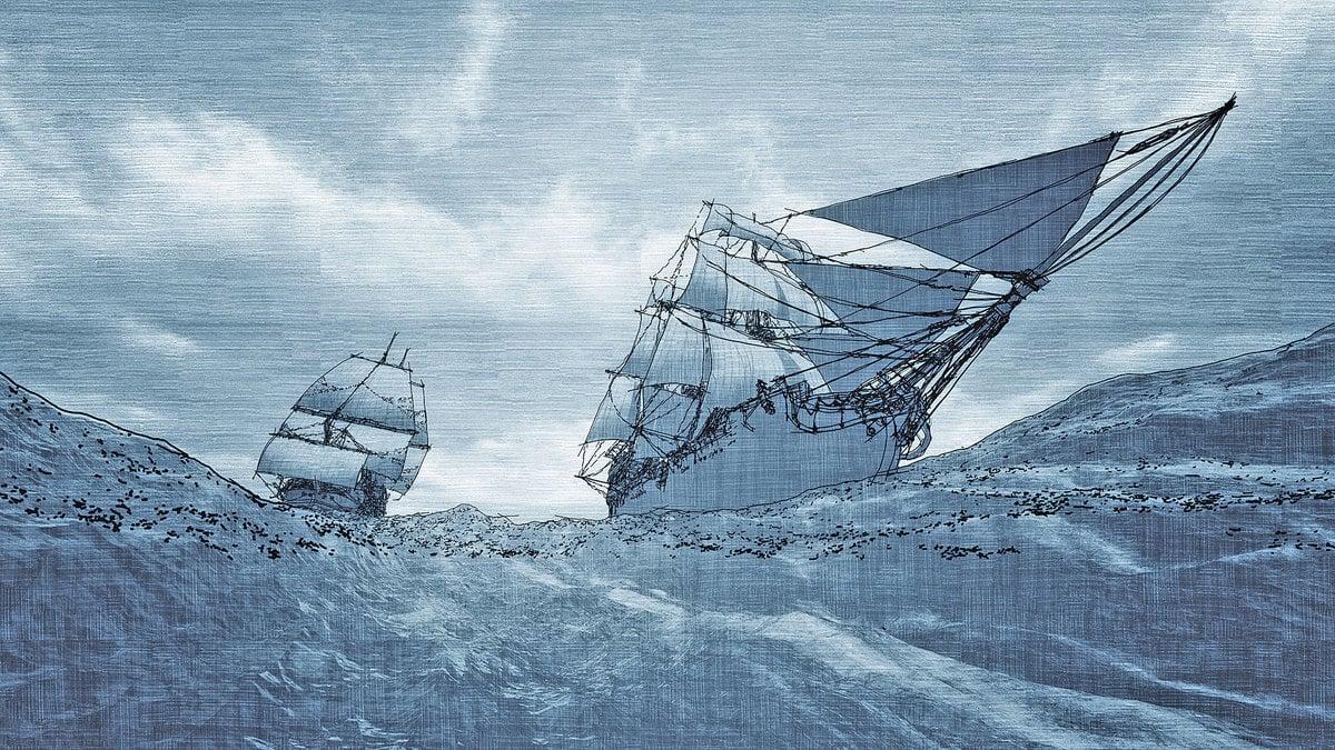 一艘失蹤了24年的帆船尤西斯號,在一處偏僻海灘擱淺再現。船員驚奇發現,他們1966年1月6日出發,1990年8月才上岸,整整24年。(fotolia)