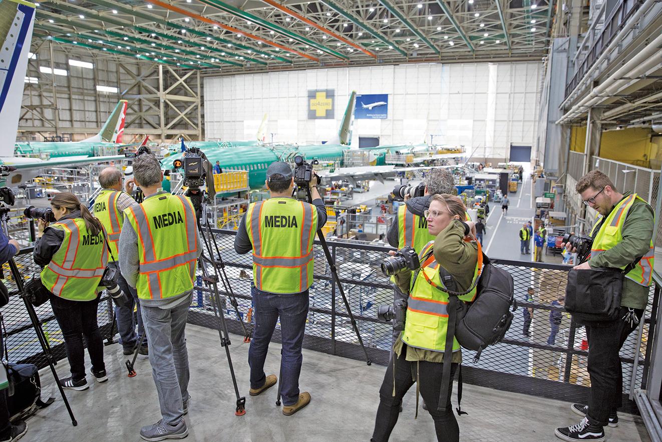 波音公司週三(3月27日)推出737 MAX四大修補措施,表示這些措施將提高飛機的安全性。(法新社)