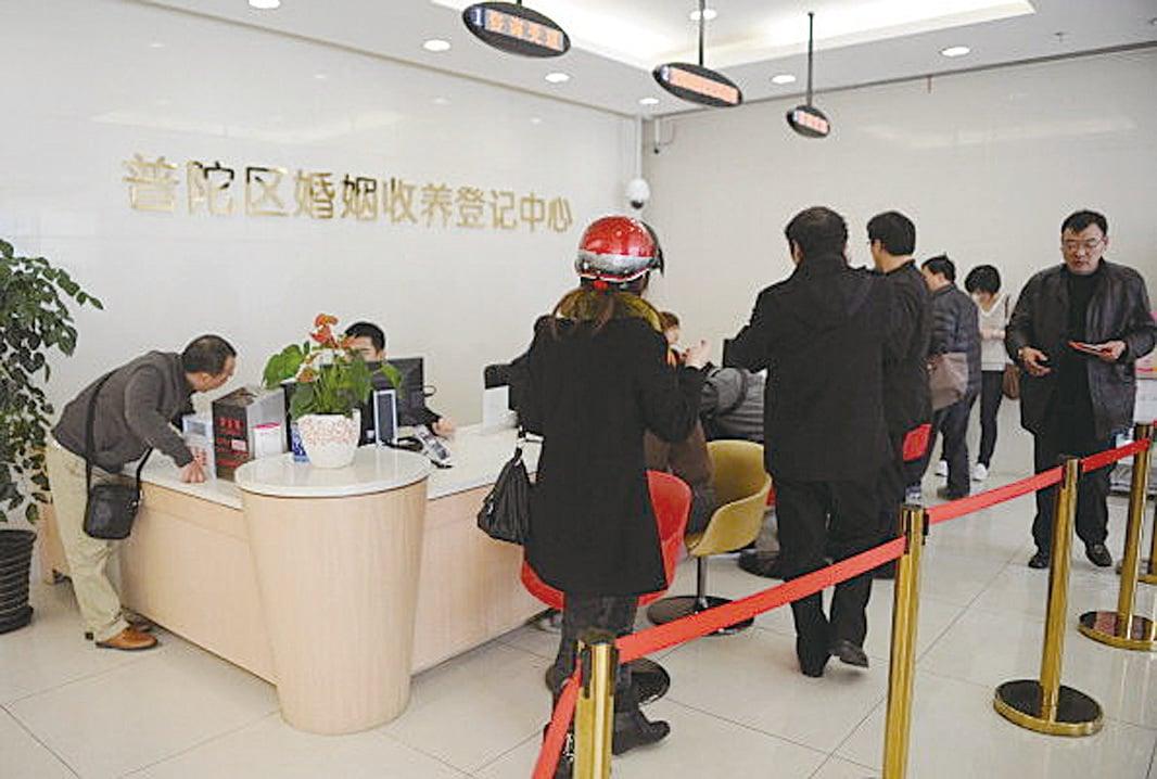 目前,中國的離婚率已經很高。( (PETER PARKS/AFP/Getty Images))