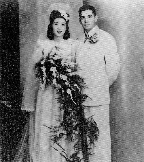 王玉齡與張靈甫的結婚照。(公有領域)