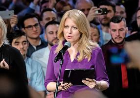 斯洛伐克選出首位女總統