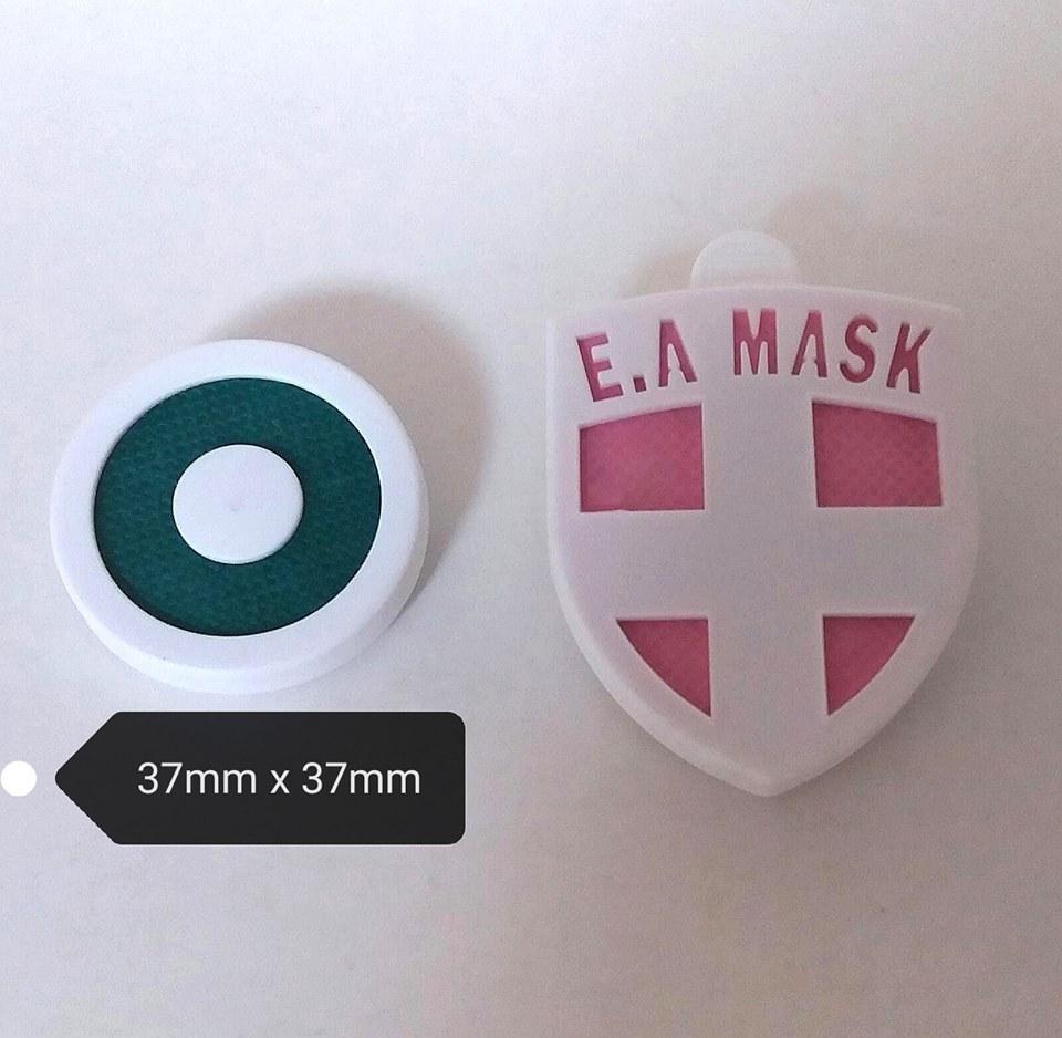 EA Mask第7代加強版更小巧(左),適合3歲或以上小童、成人或老人使用。