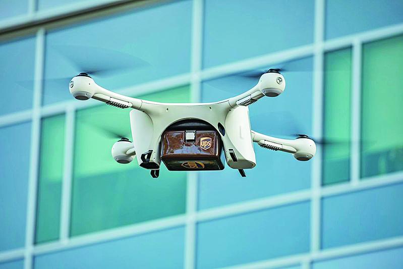 2019年3月26日,UPS在美國北卡羅來納州首開無人機送貨先河。(UPS)