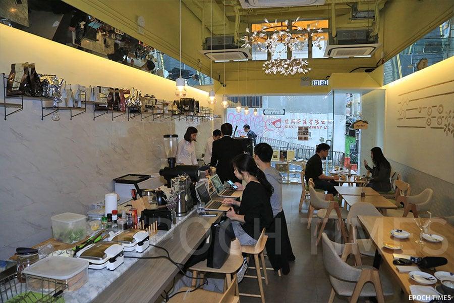 精品咖啡店thecoffeemoment。(陳仲明/大紀元)