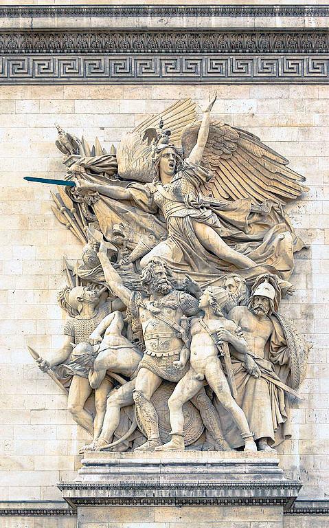 呂德(François Rude),《1792年志願軍的出征》或《馬賽曲》。(Jebulon攝於2013年5月2日/維基公有領域)