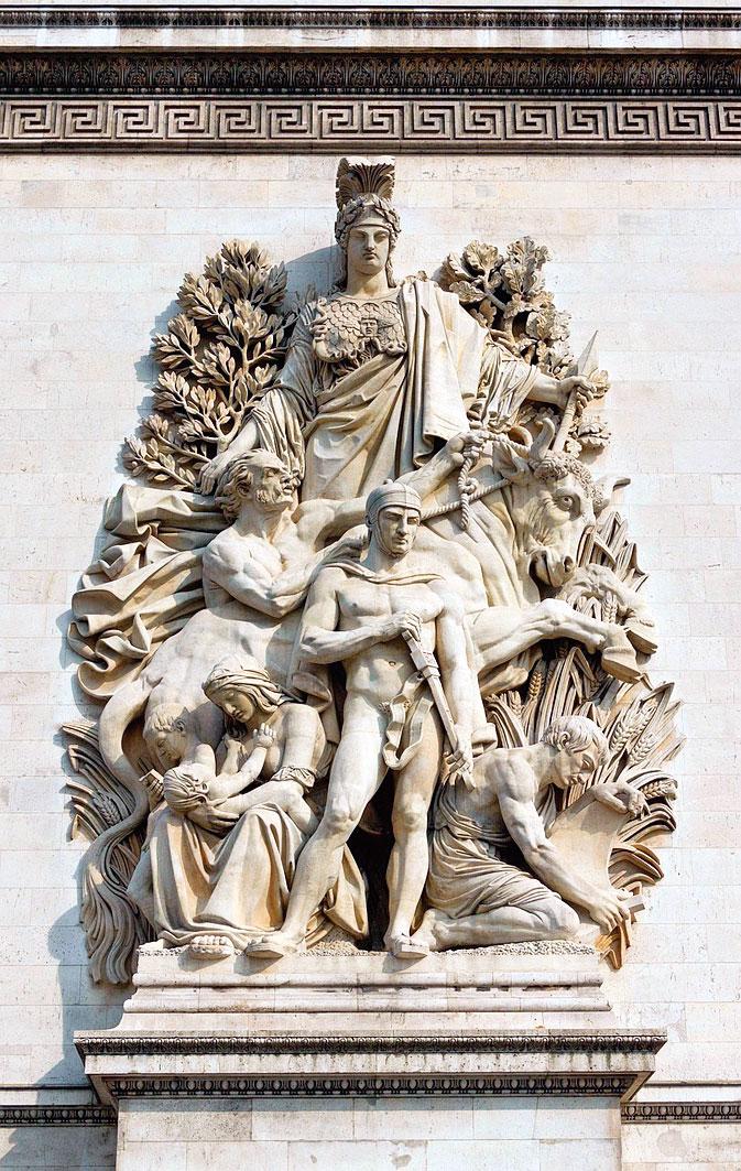 艾戴克斯(Antoine Etex),《1815年的和平》。(Pixabay)