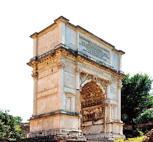意大利羅馬「提圖斯凱旋門」(Arch of Titus)。(Jebulon,攝於2013年8月22日/維基公有領域)