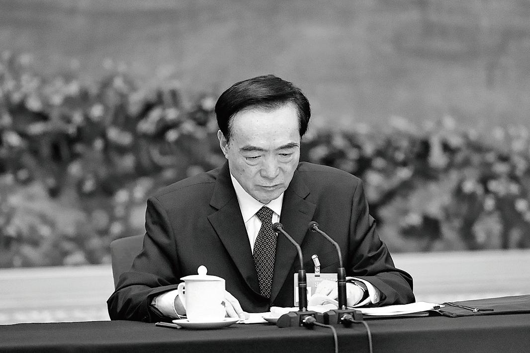 圖為2019年3月陳全國在中共兩會上。(Getty Images)