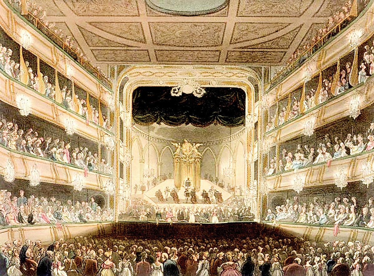 《約書亞》首次演出是在英國倫敦考文特花園劇院。(公有領域)