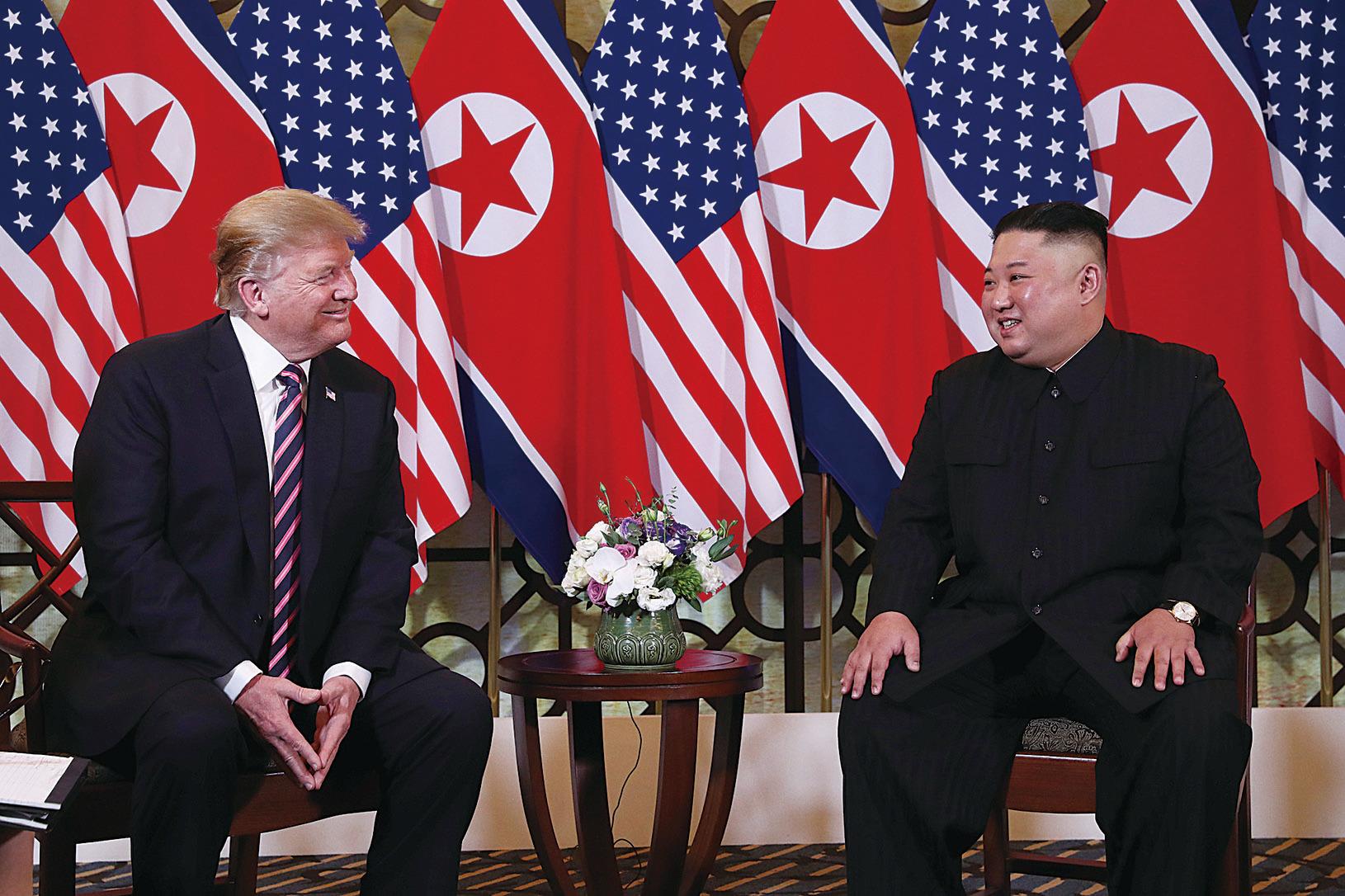 2月27日,特朗普在河內與金正恩舉行第二次會談。因金正恩不能全面棄核,會議以特朗普離席而告終。(Getty Images)