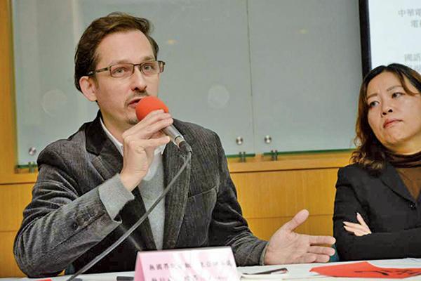 無國界記者協會東亞辦事處主任艾瑋昂(台灣媒體觀察教育基金會圖片)