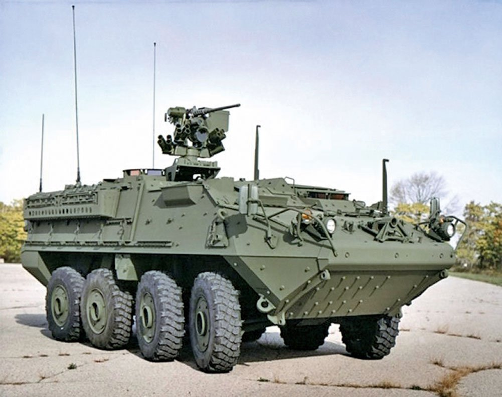 Stryker裝甲車。(維基百科)