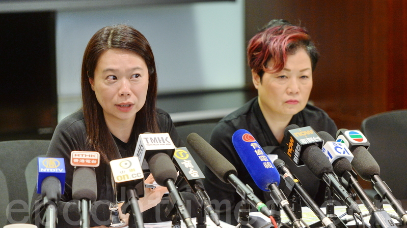 演出業協會主席陳淑芬(左)及副主席許冰心。(宋碧龍/大紀元)