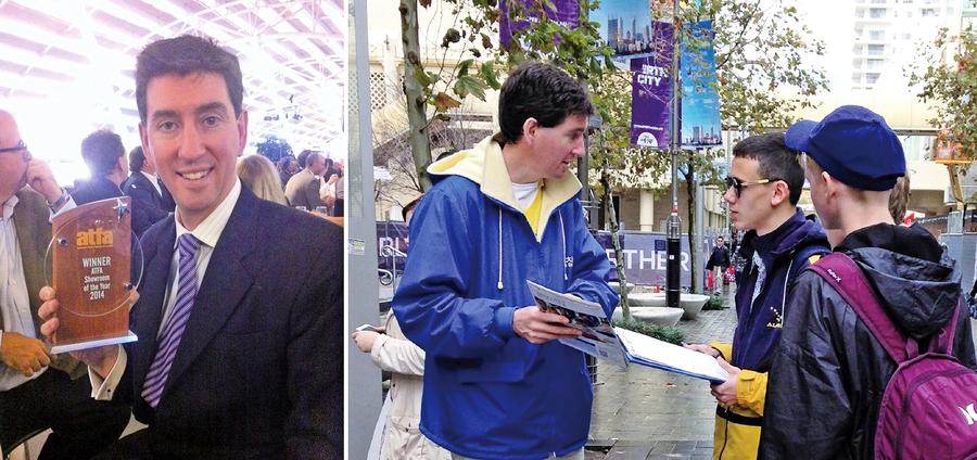 澳洲企業家的特別「商道」 百萬富翁街頭發傳單