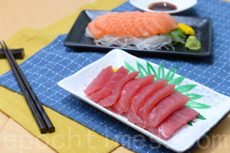 消委會測試發現,49款三文魚及吞拿魚刺身樣本含重金屬甲基汞,當中10款吞拿魚樣本的含量超出法例標準。(宋碧龍/大紀元)