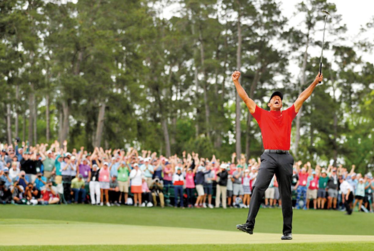 相隔11年,伍茲(Tiger Woods)再度奪得美國名人賽冠軍。(Getty Images)