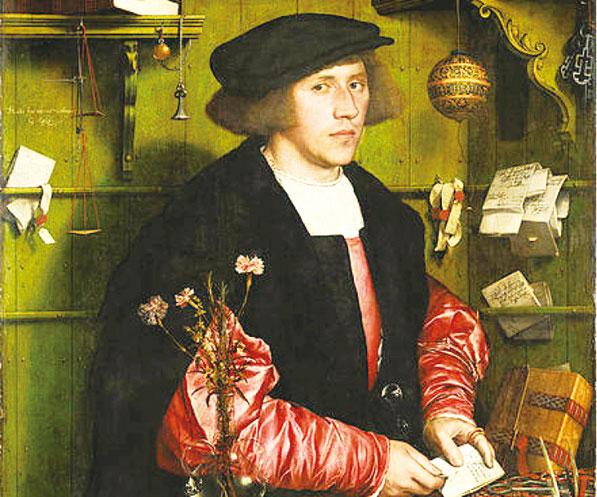 商人喬治吉斯(Georg Giese)的肖像,小漢斯‧霍爾班作。