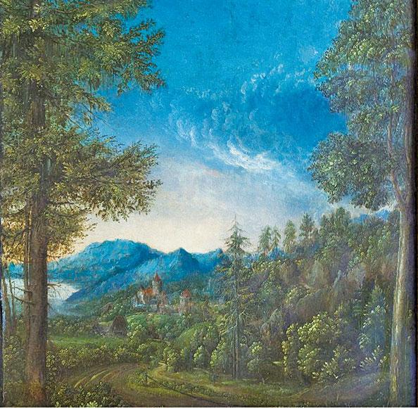 《瑞根斯堡附近的多瑙河風景》,阿爾多弗(Albrecht Altdorfer,1480~1538年),1520年作。