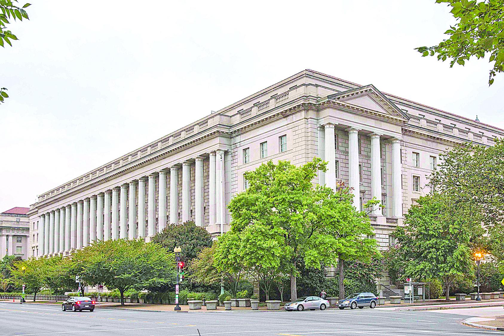 圖為美國商務部大樓。(Getty Images)