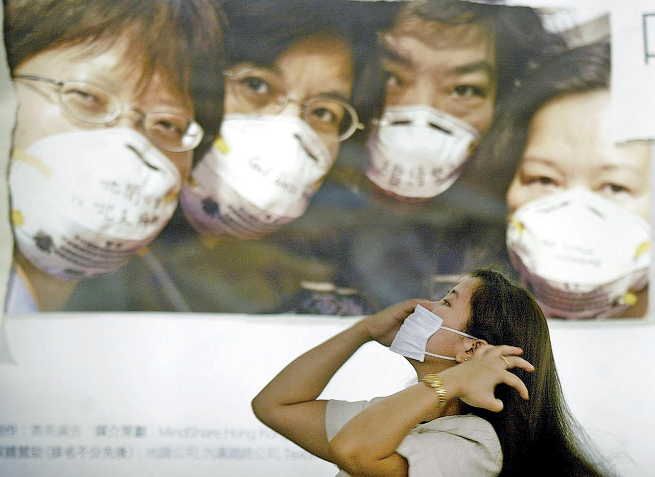 2003年初,中共在沙士(SARS)爆發初期隱瞞了真相,導致病情一發不可收拾,最後幾乎蔓延全國所有省份。(AFP)