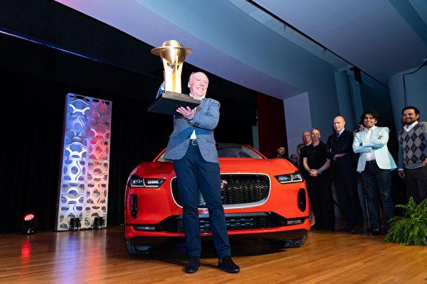 捷豹Jaguar I-Pace贏得2019年世界年度風雲車冠軍大獎,世界年度最佳設計車大獎,世界年度環保車大獎成為今年的最大贏家。(戴兵/大紀元)