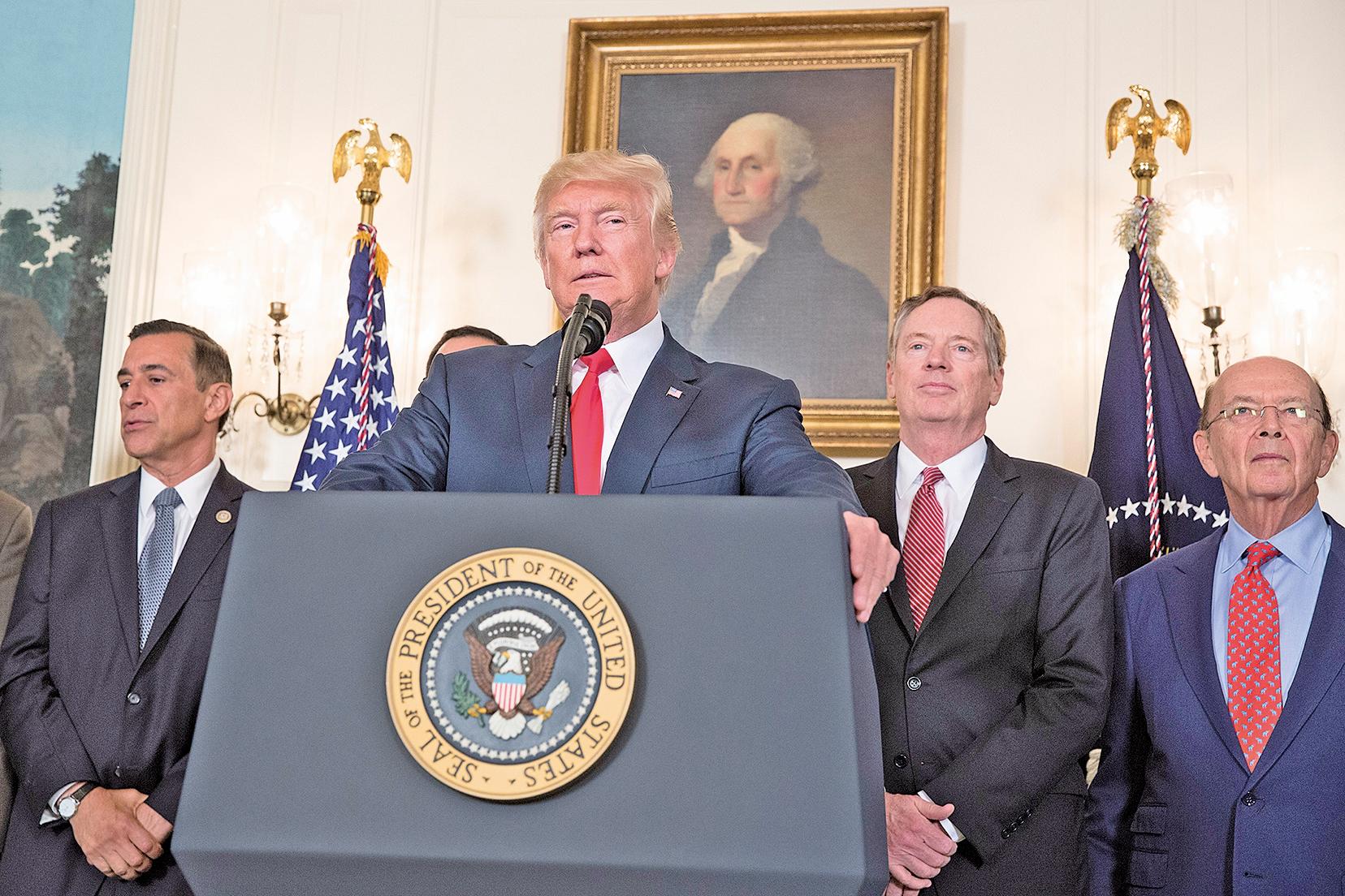 特朗普早在2017年8月上任後不久,就宣佈宣佈中共的不公正貿易和經濟行為展開全面調查。(Getty Images)