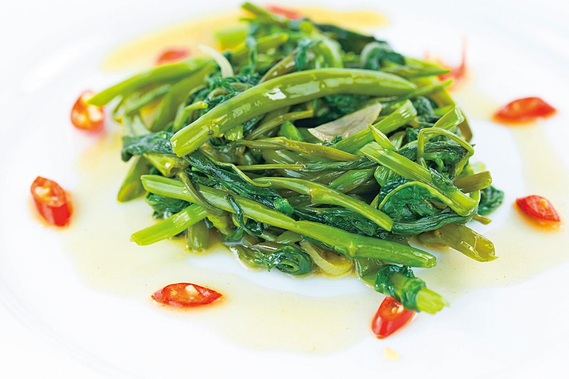大火快炒是保存蔬菜養份的好方法。