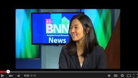 2015年12月4日,美國麻州波士頓市議會一致投票選出華裔女性米歇爾‧吳(Michelle Wu)為市議會下一任議長,吳也成為該市106年來,首位美籍亞裔市議長。(視頻擷圖)