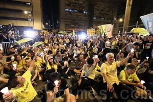 千人燭光支持佔中被囚者